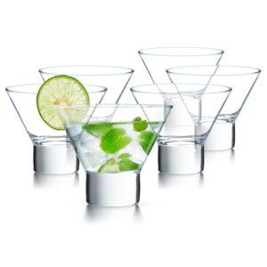 stemless cocktail glasses